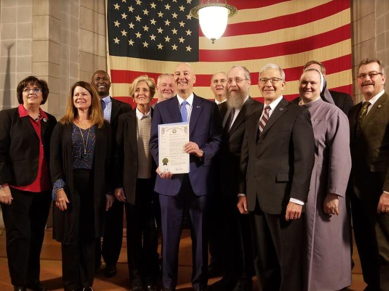 Governor Ricketts Signs Religious Freedom Day Proclamation