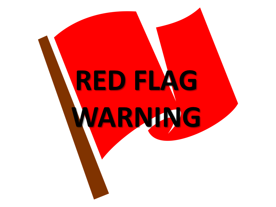Red Flag Warning Until 7 PM – Critical Fire Conditions