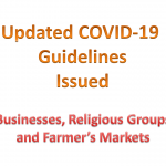 Updated COVID-19 Guidelines for Businesses, Religious Groups and Farmer's Markets Now Available