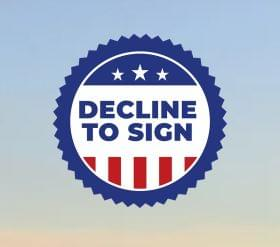 Decline To Sign