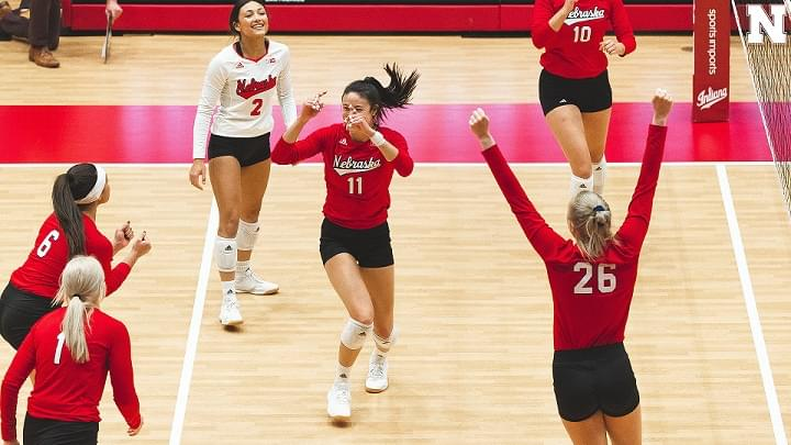 Huskers sweep Indiana again