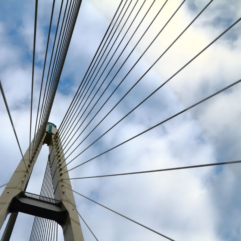 generic photo of a cable-stayed bridge