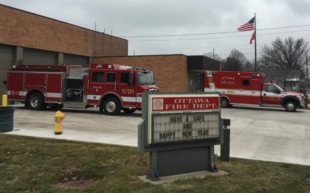 Ottawa Fire Dept. vehicles