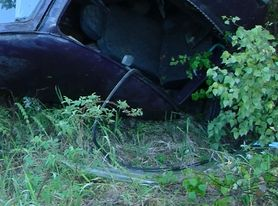 Generic picture of an upside down van after a crash.