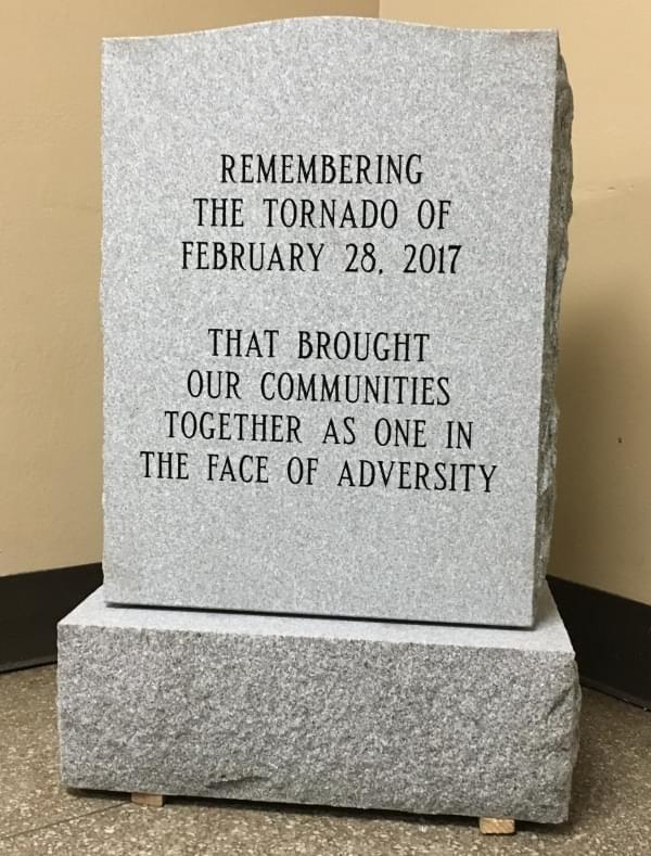 tornado marker stone