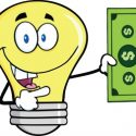 electric light bulb and dollar clipart