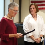 Former IVCC board member honored