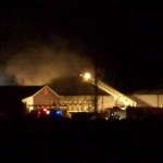 Warehouse burns, but Golden Rule Lumber stays open