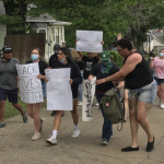Local protests against George Floyd's killing are peaceful but strong