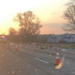 Traffic halted on I-80 eastbound east of Seneca
