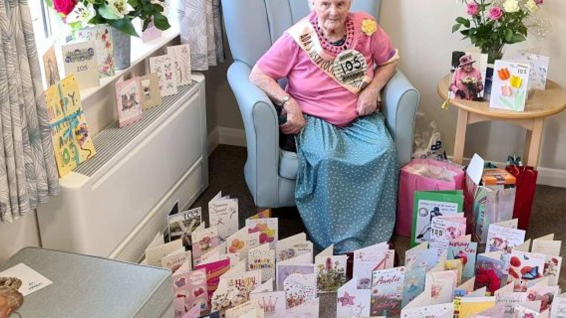 A 105th Birthday Bounty Of Cards
