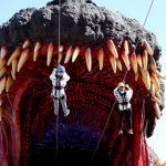 Go Go (into) Godzilla (Zipline Into Godzilla's Gaping Maw- Video Included)
