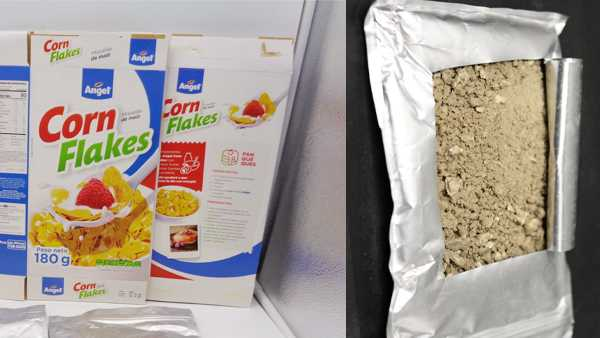 Cocaine Covered Cereal Confiscated