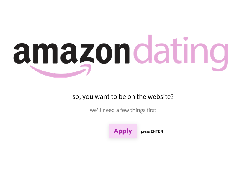 Amazon Dating with 1-day Delivery