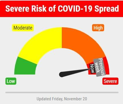 """Lancaster County Risk Dial Remains In """"Red"""" For Week 3"""