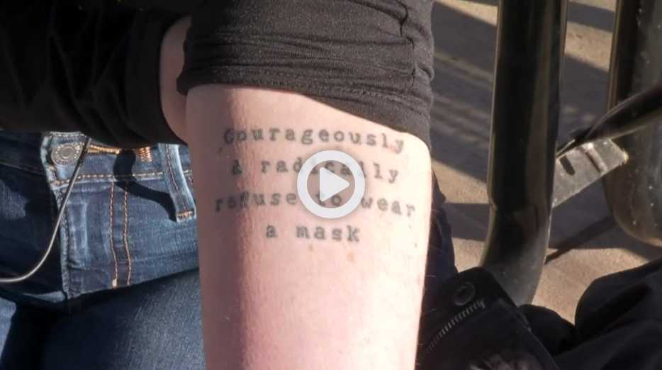 """Badly Timed """"Refuse To Wear A Mask"""" Tattoo Goes Viral"""