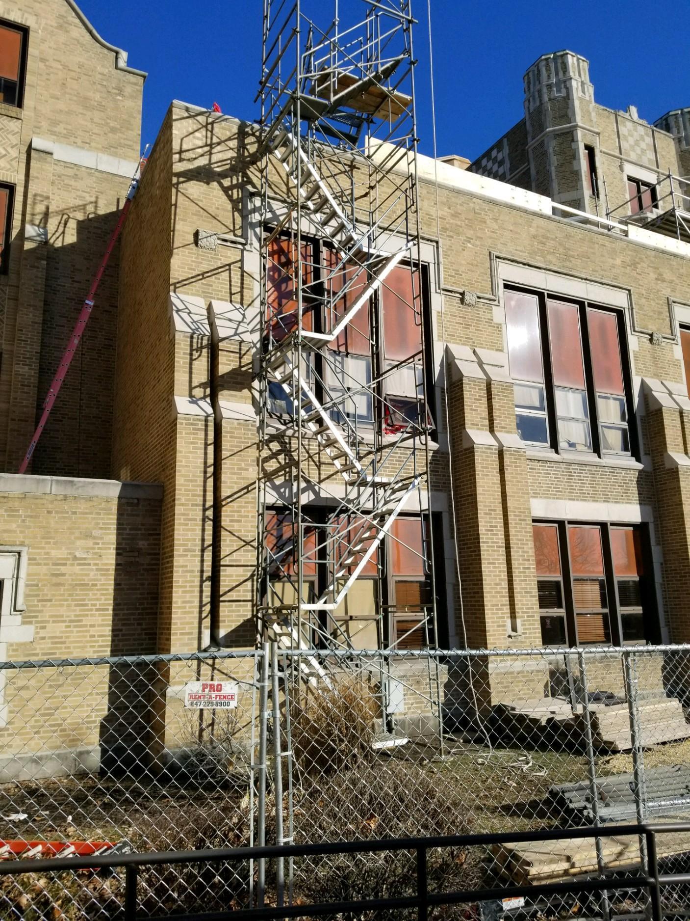 Dixon High School Tower repairs 2