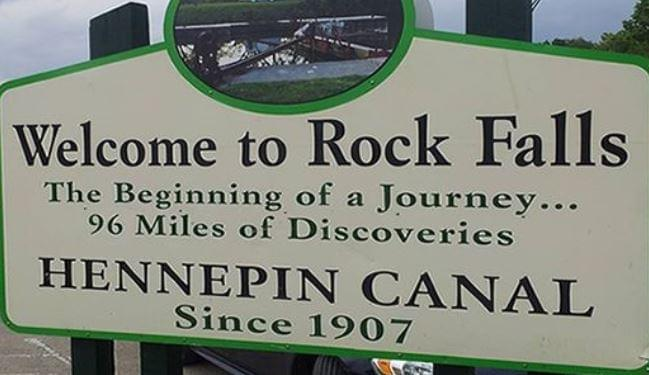 Rock Falls Welcome Sign
