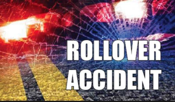 Driver Slightly Injured in Roll-Over Accident
