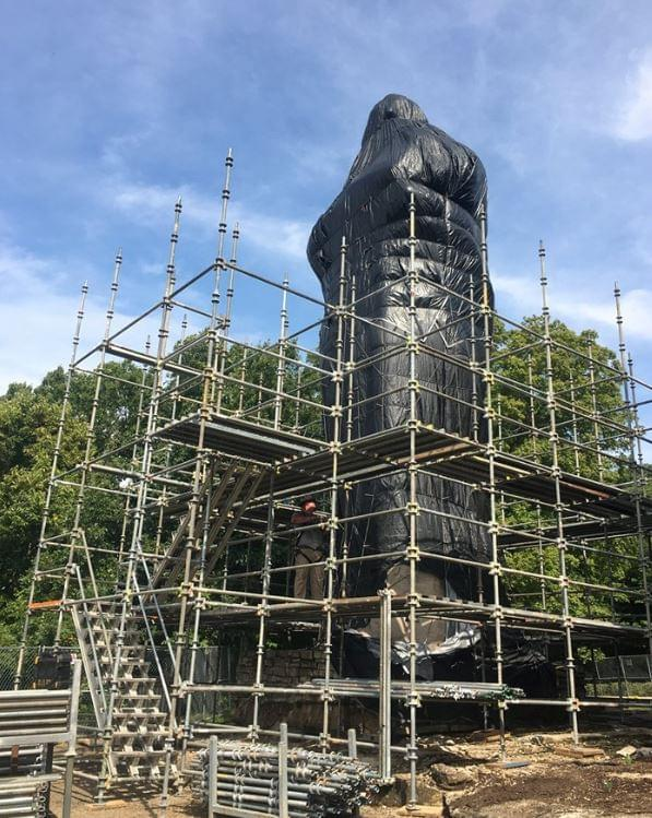Blackhawk Statue Scaffold