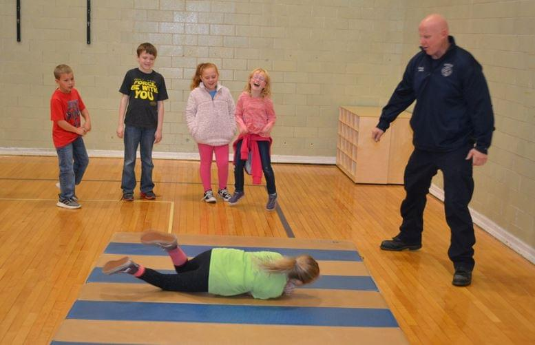 Dixon Fire Fighters Show the Stop Drop and Roll