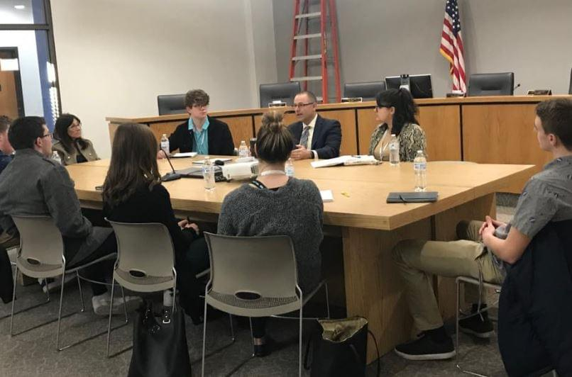 The Future Leadership of Dixon Made a Stop Into City Hall Wednesday