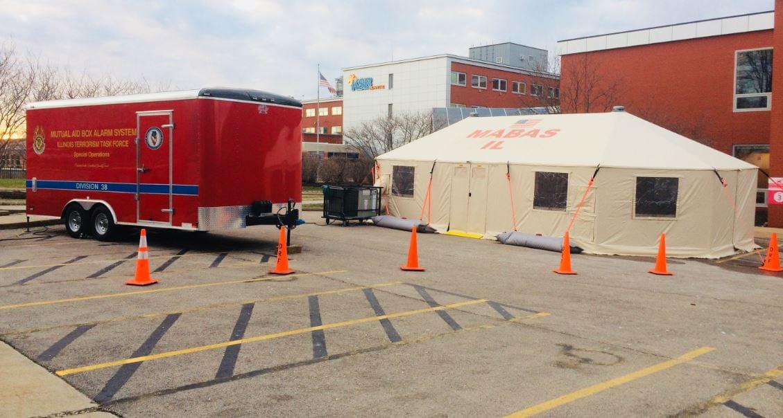 KSB Erects Tent to Handle Emergency Overflow, If the Need Arises