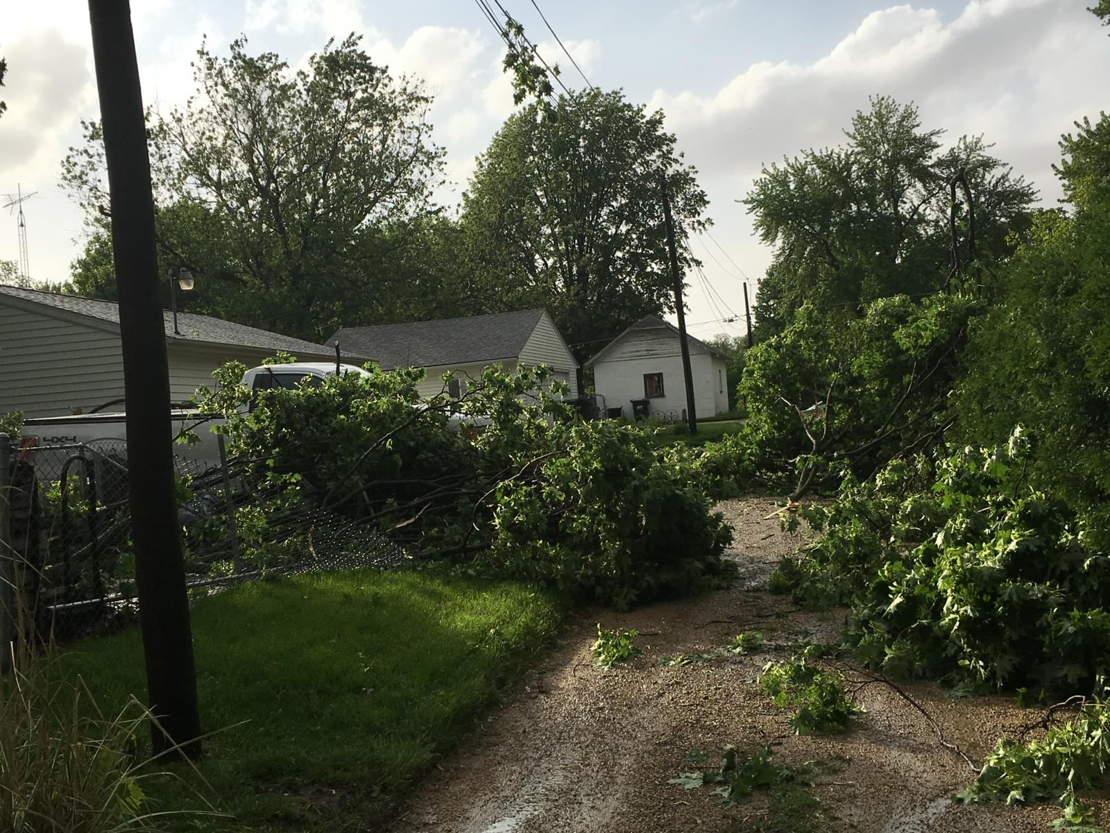 Several Communities Begin the Cleanup Process Following Monday's Storm