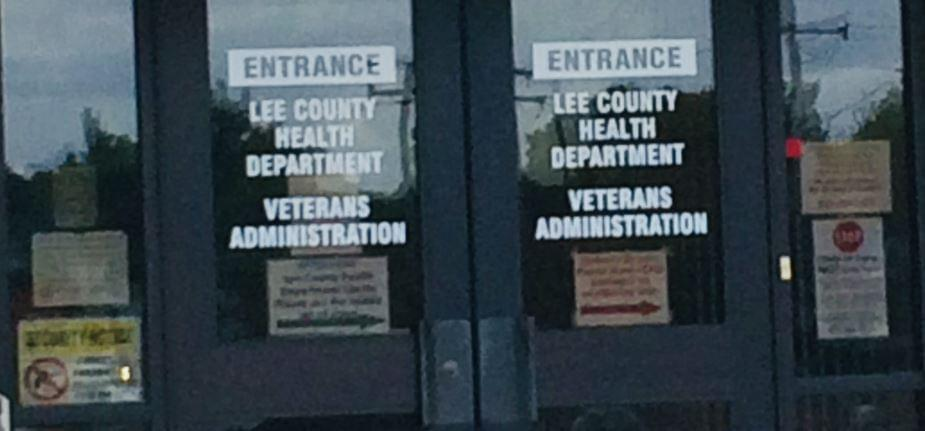 Lee County Health Door