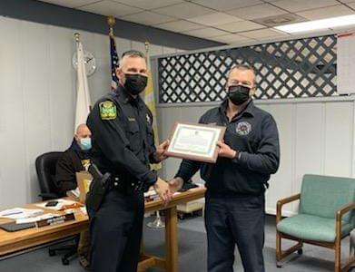 Four Members of Polo Police and Fire Recognized for Life Saving Actions During Recent Apartment Fire
