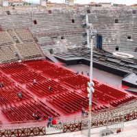 People inside Arena Verona - the place of annual festival operas