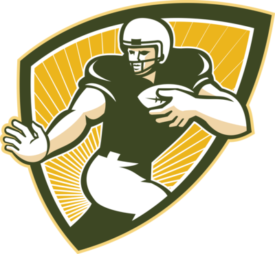 Green and gold football