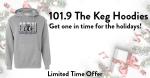 101.9 The Keg Hoodies