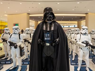 Darth Vader is banned from attending all Star Wars Events. David Prowse, the actor who portrayed Darth Vader (in form, not voice), is banned from attending official Star Wars conventions because George Lucas finds him annoying.