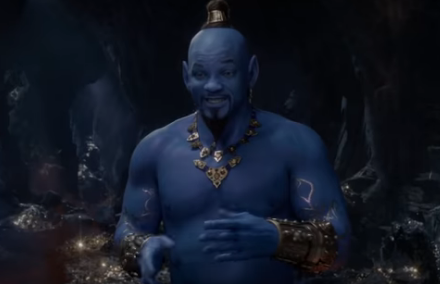 "Will Smith Goes Blue for ""Aladdin"""