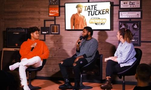 Tate Tucker in the Power Lounge