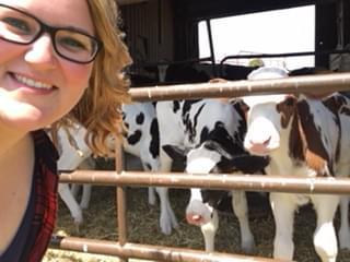 Kori with Cows