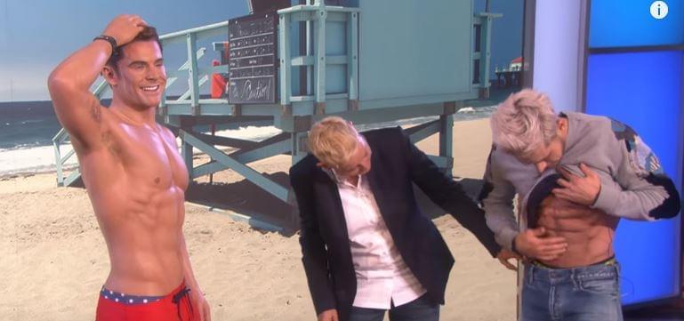 Ellen With Zac Efron