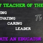 October Teacher of the Month