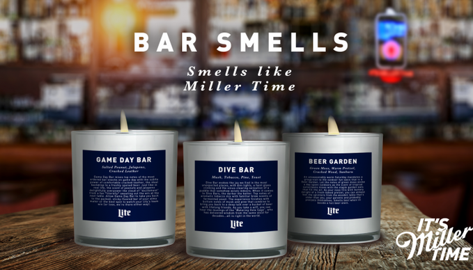 Miller Lite Candle