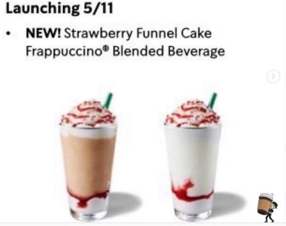 Starbucks Strawberry Funnel
