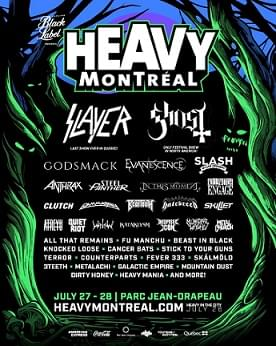 Slayer, Ghost, Godsmack, and More Lead 10th Annual Heavy Montreal Festival
