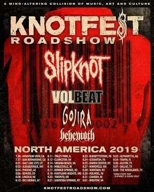 Slipknot Announces Tour w/ Volbeat, Gojira, and Behemoth