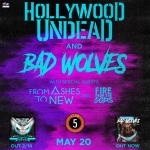 CONCERT ANNOUNCEMENT – Hollywood Undead, Bad Wolves, From Ashes To New & Fire From The Gods @ Club 5 – U.S. Cellular Center