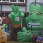 Family Displays More Than 200 Halloween Inflatables
