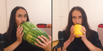 "Guy Plays Smash Mouth's ""All Star"" on Melons"