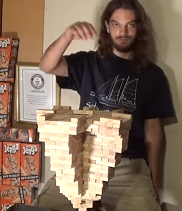 The Guinness Record for Most Jenga Blocks Stacked on One Piece