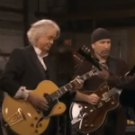 "Jack White Teaches Jimmy Page And The Edge How To Play ""Seven Nation Army"""