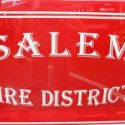 Salem firemen fight brush fire