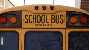 Two car-school bus crash injures Flora man